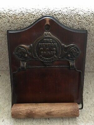 Victorian Mahogany Toilet Roll Holder Vintage