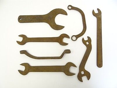 Antique Unusual Curved Large Metal Machine Iron John Deere JD51 Forged Wrenches