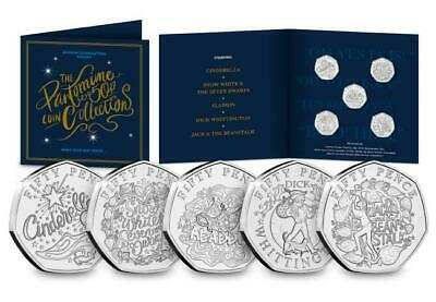 IN STOCK, The ultimate Christmas Pantomime 50p Coin Set, fifty pence set bunc
