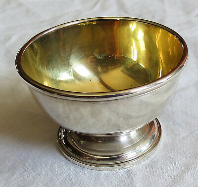 Tiny Tiffany&Co Sterling Silver Bowl w/ Gold Wash Old Vtg Antique
