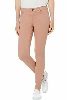 BUFFALO Ladies' Aubrey Stretch Ankle Grazer Jeans (12/32, Pink) Pre-Owned