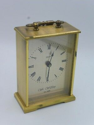 Lovely Wm. Widdop Carriage Clock Gold Color - Brass