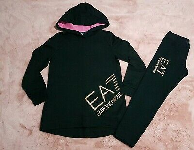 Girls Authentic Armani Tracksuit age 8yrs * WORN TWICE * RRP £110