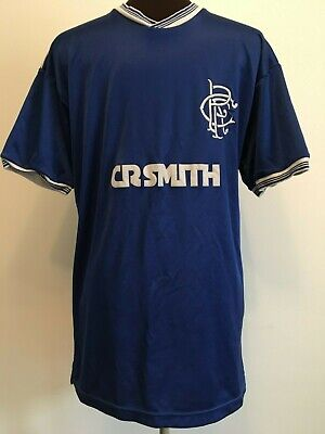 Official Score Draw Retro Glasgow Rangers Home Football Shirt Size Adult Medium
