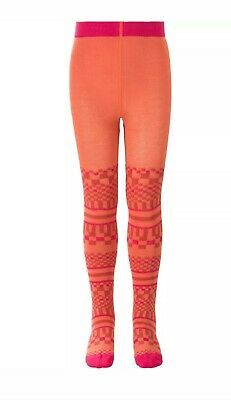 Oilily Tights Meteola maillot jacquard coral Size 140 Age 10 Years NEW