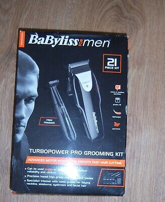 Babyliss for men 21 piece Turbopower pro grooming kit. mint con