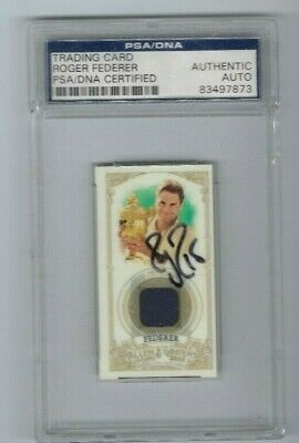 Roger Federer 2012 Topps Allen & Ginter Relics -PSA/DNA Certified Authentic AUTO