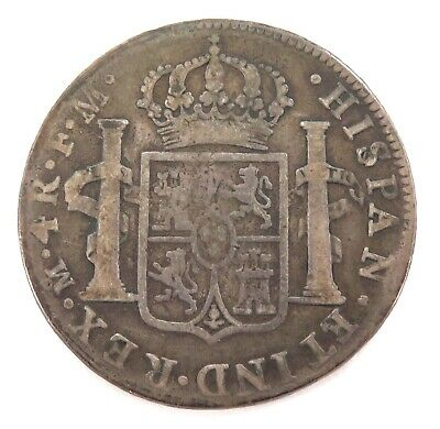 1795 Spanish Colonial Mexico 4 Reales Silver Coin. Carolus Iiii