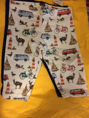 BNWT New Next 2 Pack Set Crop Short Leggings. Camper Van Navy Age 6 Years