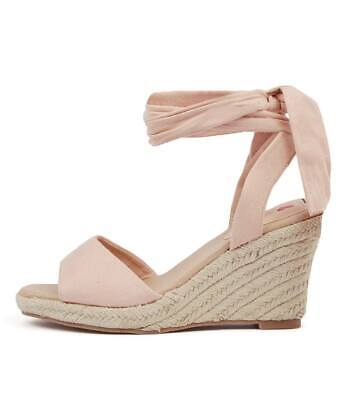 New I Love Billy Wilford Khaki Microsuede Womens Shoes Casual Sandals Heeled