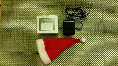 Gemmy 1997 Douglas Fir Christmas Tree Replacement  AC Adapter & Santa Hat