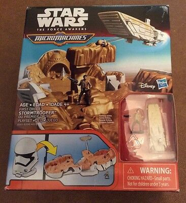 Star Wars The Force Awakens Micro Machines First Order Storm Trooper Playset