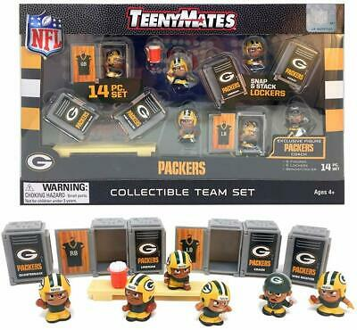 2019 NFL TeenyMates Green Bay Packers 14 Piece Collectible Team Set Brand New!