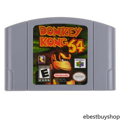 Donkey Kong 64 For Nintendo N64 Video Game Cartridge Console US/CAN Version