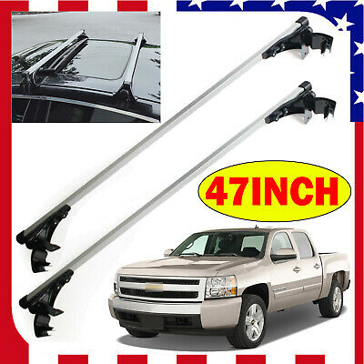 Car Top Cross Bar Roof Rack 47/'/' Luggage W// 3 Kinds Clamp For Ford Focus Fusion