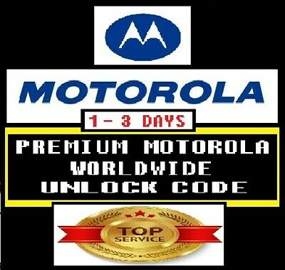 Motorola Premium Factory Unlock Code * All Network Worldwide * Top Fast Service
