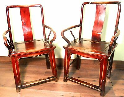 Antique Chinese Ming Arm Chairs (5882) (Pair), Circa 1800-1849