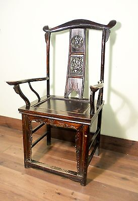 Antique Chinese High Back Arm Chair (5479), Circa 1800-1849