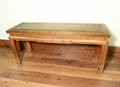 Antique Chinese Ming Spring Bench (5644), Zelkova Wood, Circa 1800-1849