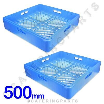 SQUARE OPEN GLASS RACKS PACK OF 2 CUP BASKETS 500mm x 500mm x 105mm GLASSWASHER