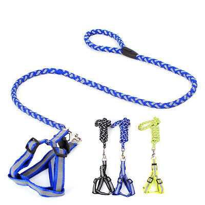 Step-in Dog Reflective Harness Walking Leash No Pullig Nylon Pet Vest Leads AM8Z