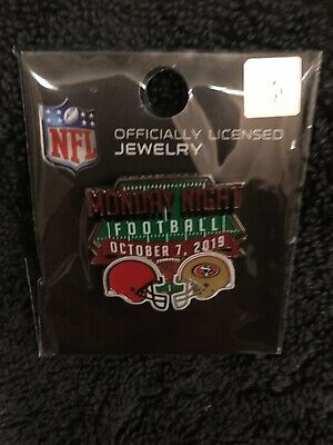SF 49ers vs Cleveland Browns Monday Night Football NFL Pin Oct. 7 2019 GameDay