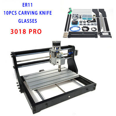 3 Axis CNC Router Kit 3018 With Laser Engraver 500MW Engraving Machine USB Port