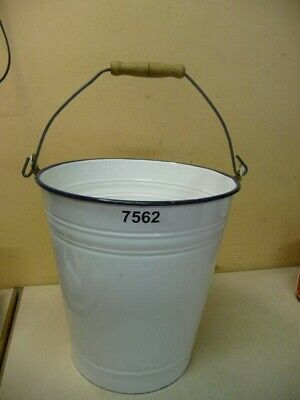 7562. Alter Emaille Email Eimer old email bucket