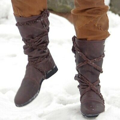 Costume Herren Boots Men Winter Viking Cosplay Medieval Boots Shoes Historical