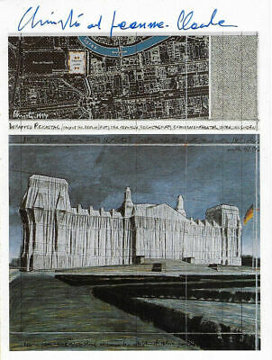 Christo hand signed REICHSTAG