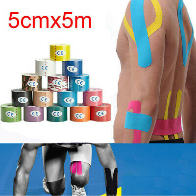 UK 5M Sport Body Knee Rocktape Athletic Muscle Tape Physio Kinesiology Strapping
