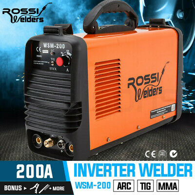 NEW ROSSI Welder Inverter 200 Amp Welding Machine TIG ARC MMA DC WSM200 Portable