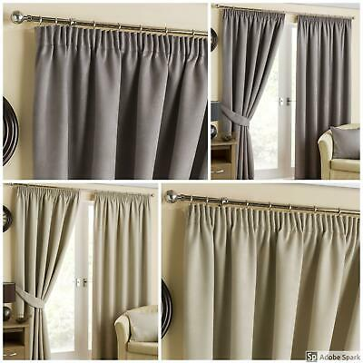 Belvedere - BLACKOUT Lined PENCIL PLEAT Curtains THERMAL, SOUND REDUCING
