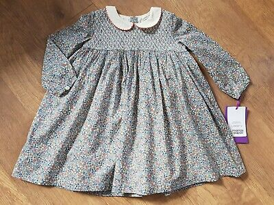 Mamas And Papas floral Liberty Print Dress 18-24 Months Bnwt