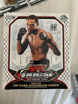 9 X 2011 UFC Finest Trading Cards Autographs Threads Refractors