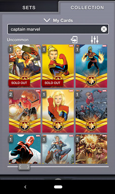 Topps MARVEL COLLECT! Complete CAPTAIN MARVEL Set (13 Cards) - With x2 Awards