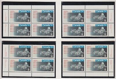 MATCHED SET PLATE BLOCKS 1078MNH 34c x 16 1988 EXPO 86 - CANADA PAVILION