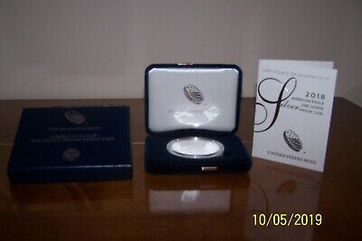 2018 W Silver American Eagle Proof With Box And COA