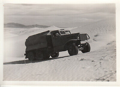 Original WWII Photo US Army GAS FUEL TANK TRUCK Desert Sand 1942 CAMP SEELEY 24