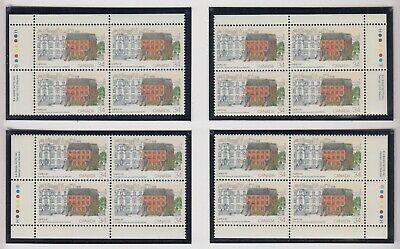 MATCHED SET PLATE BLOCKS 1122MNH 34c x 16 CAPEX 87, TORONTO'S FIRST POST OFFICE