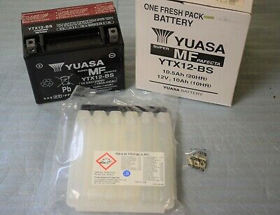 Batterie YUASA YTX12-BS 12V 10AH pour moto scooter neuf