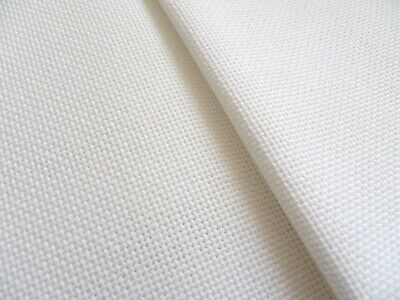 White Davosa 18 Count Zweigart even weave fabric - various size options