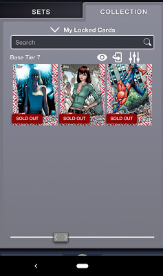 Topps MARVEL COLLECT! Tier 7 JULY RESERVE Spiderman Mary Jane & Gwen - Set