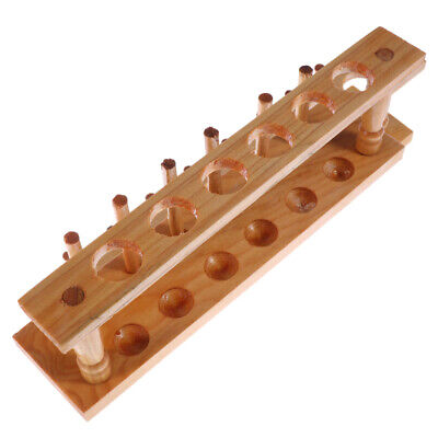 Test Tube Rack Durable Wooden Corrosion-resistant Test Tube Holder for Lab