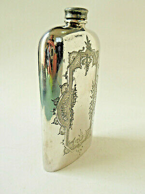 Antique Silver EP Hip Flask by Walker and Hall