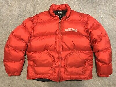 Vintage Polo Jeans Company 90s Men's Lightweight Down Puffer Zip Jacket XL