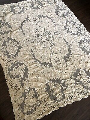 Vintage Ecru Quaker lace dinner Cloth tablecloth table cloth Never Used Tags
