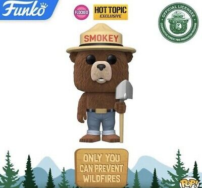Funko Pop Ad Icons: Smokey The Bear Flocked Hot Topic Exclusive Preorder
