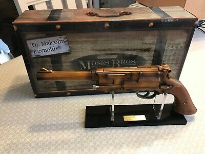QMX Firefly Captain Malcolm Reynolds metal plated blaster replica