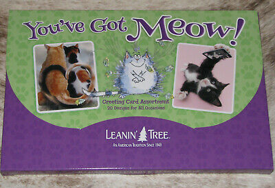LEANIN TREE You've Got Meow! 20 GREETING CARD ASSORTMENT~20 Designs #90797